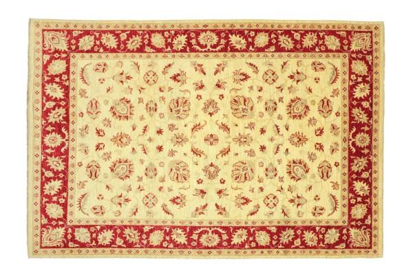 Afghan Chobi Ziegler 235x176 Handgeknüpft Teppich 180x240 Beige Floral Kurzflor Orient