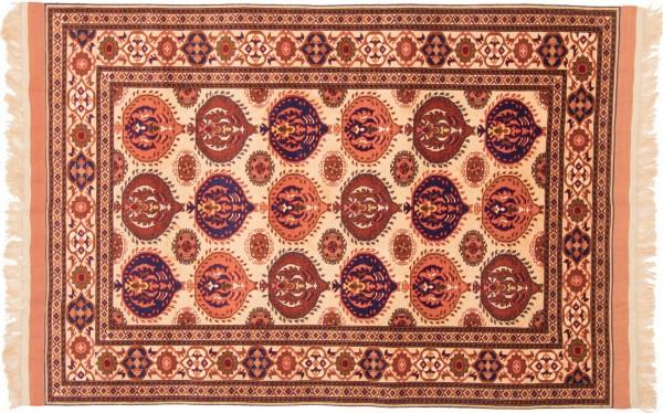 Afghan Mauri Kabul 162x115 Handgeknüpft Teppich 120x160 Rot Geometrisch Muster Kurzflor