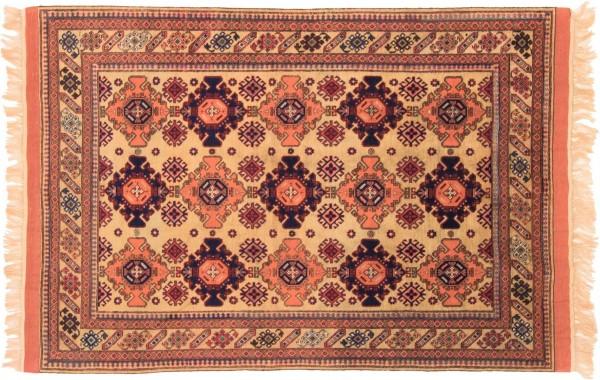 Afghan Mauri Kabul 156x110 Handgeknüpft Teppich 110x160 Gold Geometrisch Muster