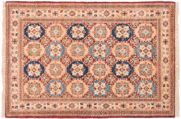 Afghan Chobi Ziegler 152x103 Handgeknüpft Teppich 100x150 Mehrfarbig Orientalisch