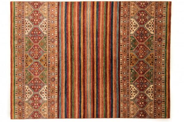 Chobi-Ziegler Khorjeen 274x203 Handgeknüpft Teppich Bunt 200x300 Afghan Khorjin