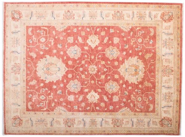 Afghan Chobi Ziegler Fein 197x147 Handgeknüpft Teppich 150x200 Beige Blumenmuster