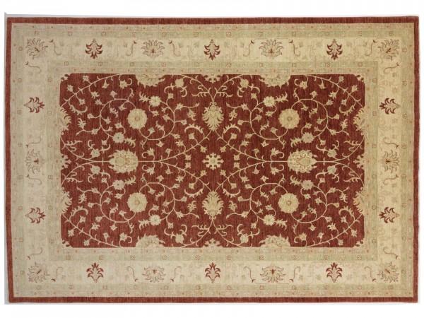 Afghan Chobi Ziegler 362x249 Handgeknüpft Teppich 250x360 Rot Orientalisch Kurzflor