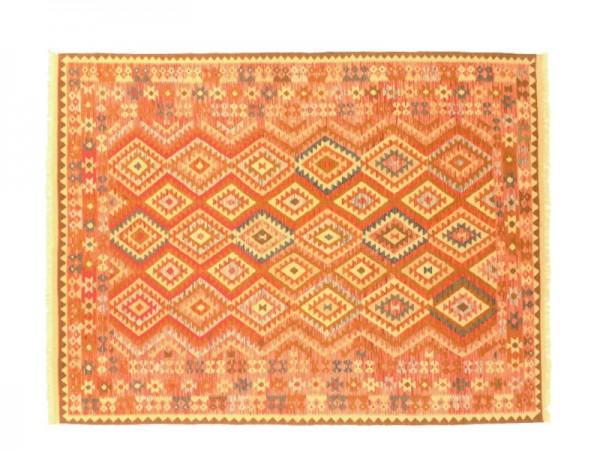 Afghan Maimana Kelim Bunt 300x202 Handgewebt Teppich 200x300 Mehrfarbig Geometrisch