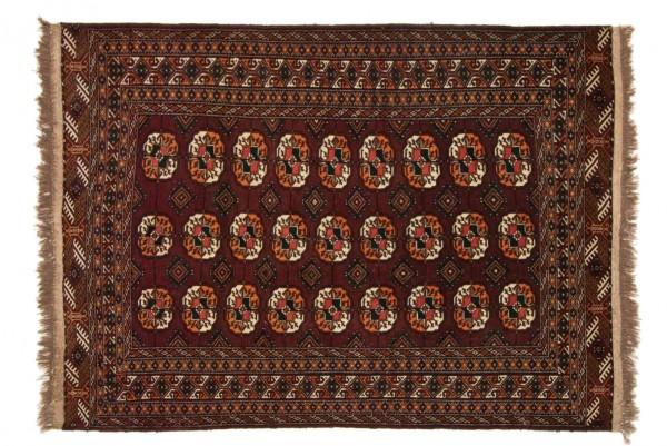 Kaukasus Buchara 180x132 Handgeknüpft Teppich 130x180 Rot Geometrisch Muster Kurzflor
