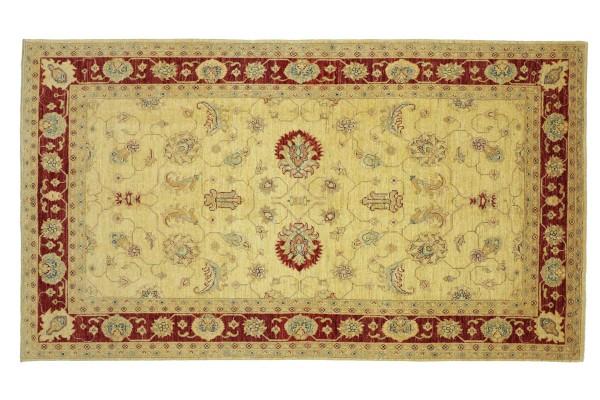 Afghan Chobi Ziegler 248x161 Handgeknüpft Teppich 160x250 Beige Floral Kurzflor Orient