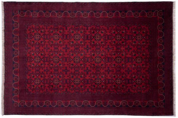 Afghan Khal Mohammadi Fein 291x197 Handgeknüpft Teppich 200x290 Rot Orientalisch
