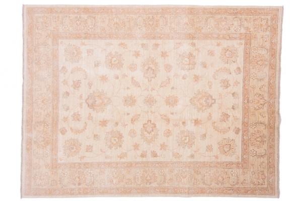 Afghan Chobi Ziegler 200x150 Handgeknüpft Teppich 150x200 Beige Orientalisch Kurzflor
