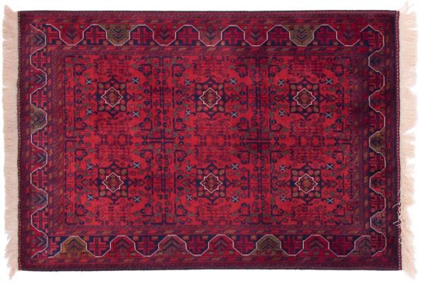 Afghan Belgique Khal Mohammadi 145x98 Handgeknüpft Teppich 100x150 Braun Geometrisch