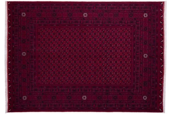 Afghan Orientteppich 281x200 Handgeknüpft Teppich 200x280 Rot Geometrisch Muster
