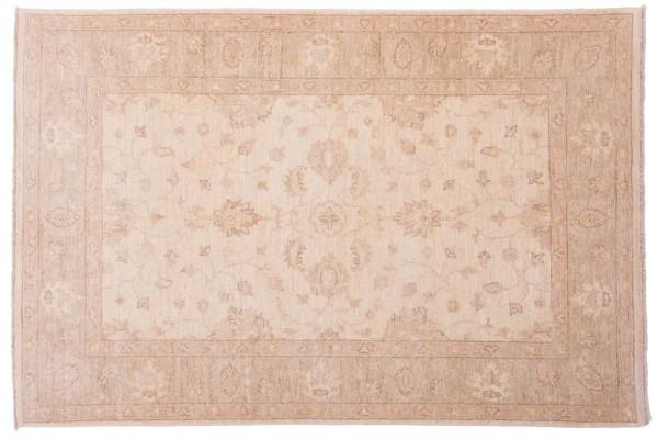 Afghan Chobi Ziegler 180x119 Handgeknüpft Teppich 120x180 Beige Orientalisch Kurzflor