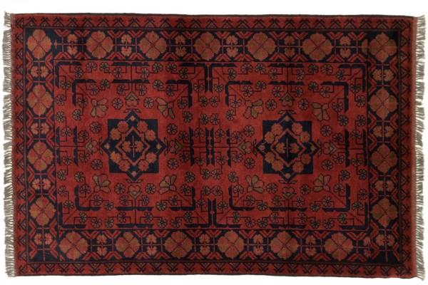 Afghan Khal Mohammadi 121x80 Handgeknüpft Teppich 80x120 Braun Geometrisch Muster
