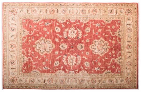 Afghan Chobi Ziegler Fein 186x120 Handgeknüpft Teppich 120x190 Rot Blumenmuster