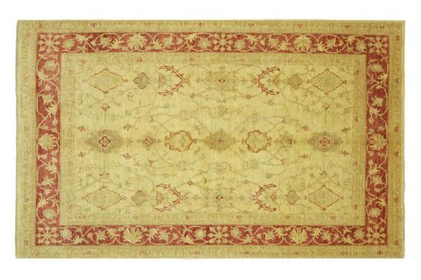 Afghan Chobi Ziegler 243x169 Handgeknüpft Teppich 170x240 Beige Floral Kurzflor Orient