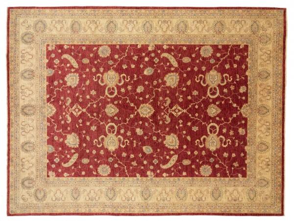 Afghan Chobi Ziegler 397x302 Handgeknüpft Teppich 300x400 Beige Blumenmuster Kurzflor