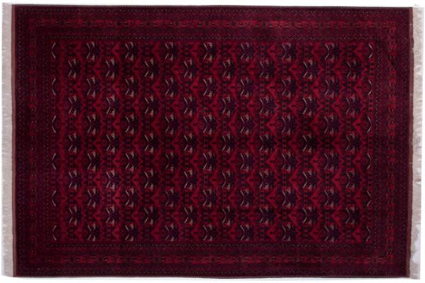 Afghan Belgique Khal Mohammadi 293x202 Handgeknüpft Teppich 200x290 Orange Geometrisch