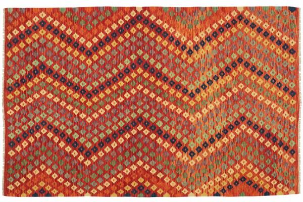 Afghan Maimana Kelim Bunt 248x176 Handgewebt Teppich 180x250 Bunt Geometrisch Orient