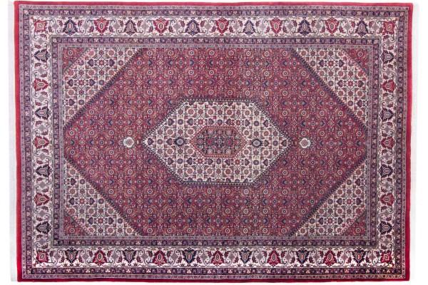 Bidjar 14/70 246x173 Handgeknüpft Teppich 170x250 Rot Geometrisch Muster Kurzflor