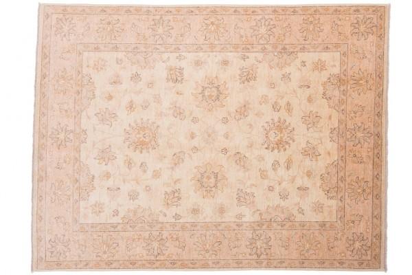 Afghan Chobi Ziegler 203x154 Handgeknüpft Teppich 150x200 Beige Orientalisch Kurzflor