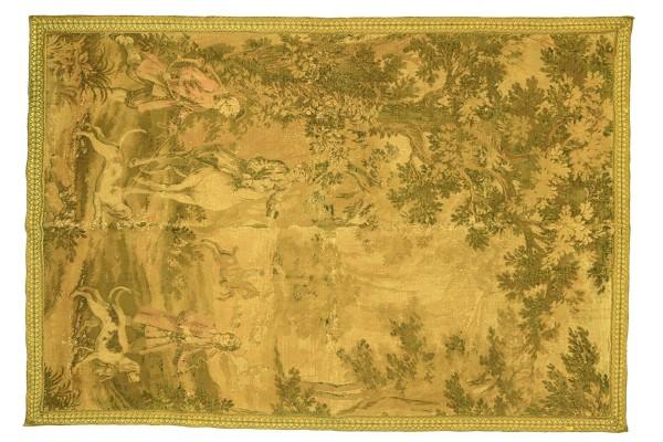 Frankreich Gobelin Wandteppich 182x138 Handgewebt Teppich 140x180 Beige Bildmotive