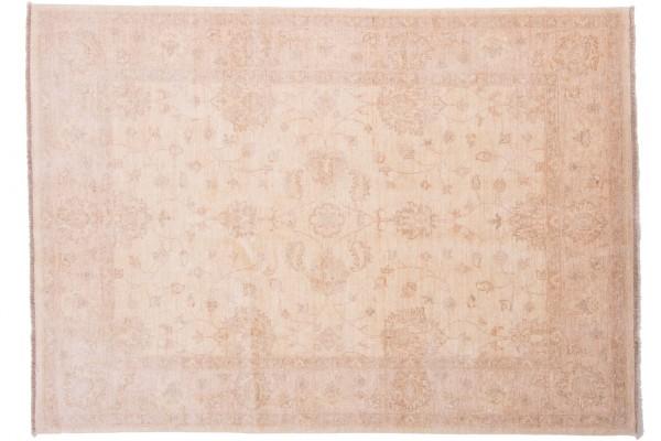 Afghan Chobi Ziegler 212x150 Handgeknüpft Teppich 150x210 Beige Orientalisch Kurzflor