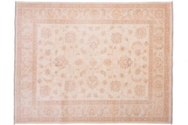 Afghan Chobi Ziegler 196x153 Handgeknüpft Teppich 150x200 Beige Orientalisch Kurzflor