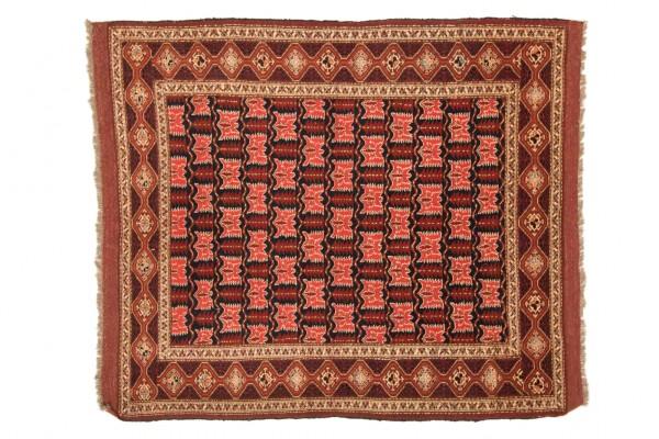 Afghan Chapabaft 163x145 Handgeknüpft Teppich 150x160 Quadratisch Mehrfarbig
