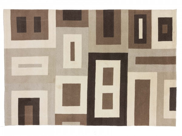 Nepal 297x203 Handgeknüpft Teppich 200x300 Beige Geometrisch Muster Kurzflor Orient Rug
