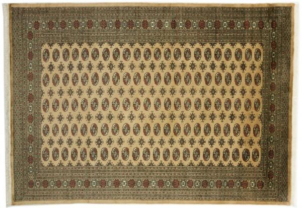 Pakistan Buchara 241x154 Handgeknüpft Teppich 150x240 Beige Orientalisch Kurzflor