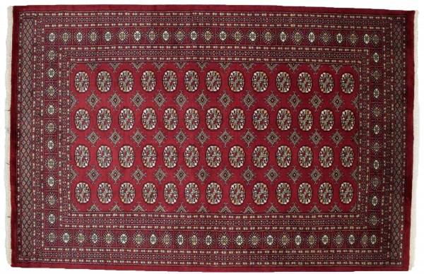 Pakistan Buchara 240x158 Handgeknüpft Teppich 160x240 Rot Orientalisch Kurzflor Orient