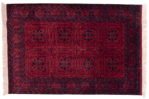 Afghan Belgique Khal Mohammadi 151x103 Handgeknüpft Teppich 100x150 Braun Geometrisch