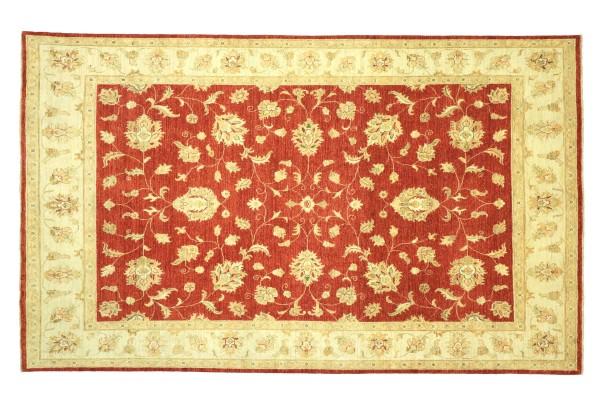 Afghan Chobi Ziegler 294x199 Handgeknüpft Teppich 200x290 Rot Floral Kurzflor Orient