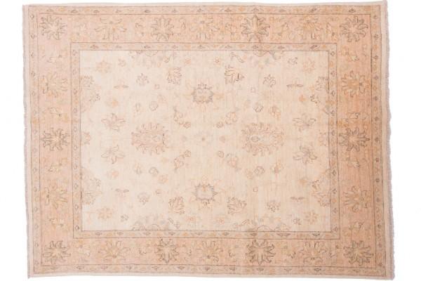 Afghan Chobi Ziegler 202x155 Handgeknüpft Teppich 160x200 Beige Orientalisch Kurzflor