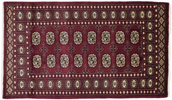 Pakistan Silk Touch 154x91 Handgeknüpft Teppich 90x150 Rot Orientalisch Kurzflor Orient