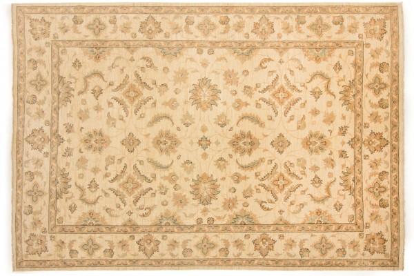 Afghan Chobi Ziegler 293x204 Handgeknüpft Teppich 200x290 Beige Orientalisch Kurzflor
