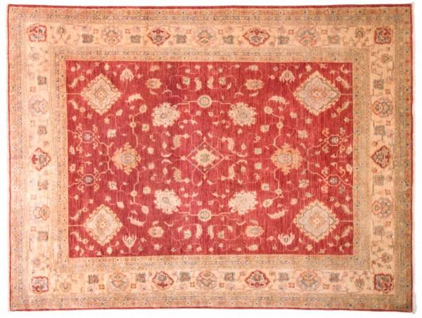 Afghan Chobi Ziegler Fein 256x193 Handgeknüpft Teppich 190x260 Rot Blumenmuster