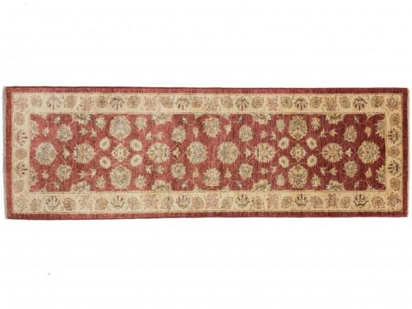 Afghan Chobi Ziegler 244x80 Handgeknüpft Teppich 80x240 Läufer Rot Orientalisch