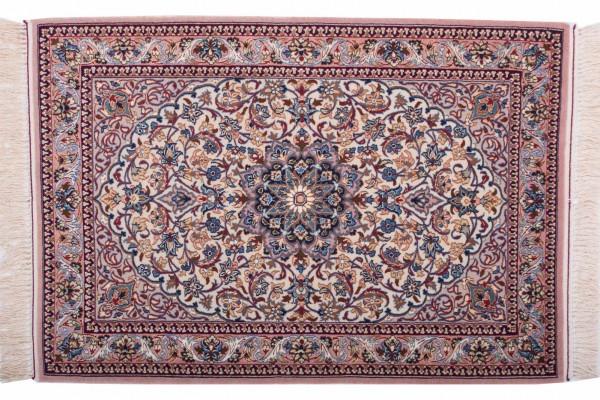 Perser Isfahan 104x72 Handgeknüpft Teppich 70x100 Mehrfarbig Orientalisch Kurzflor