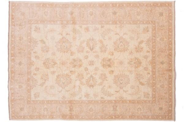 Afghan Chobi Ziegler 205x151 Handgeknüpft Teppich 150x210 Beige Orientalisch Kurzflor