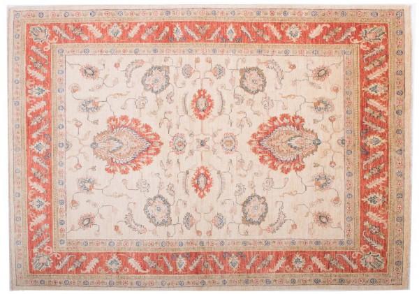 Afghan Chobi Ziegler Fein 203x146 Handgeknüpft Teppich 150x200 Beige Blumenmuster