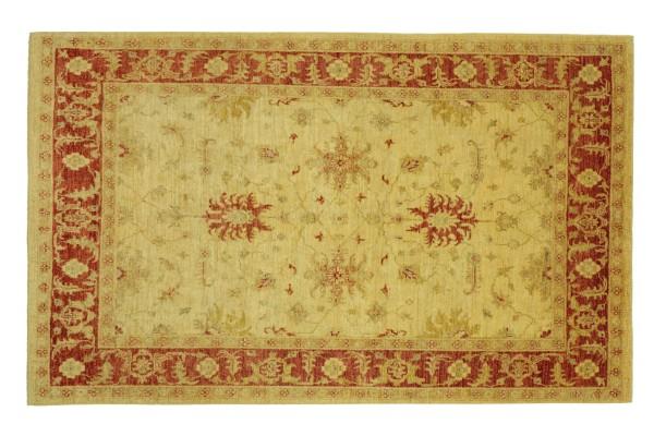 Afghan Chobi Ziegler 238x170 Handgeknüpft Teppich 170x240 Beige Floral Kurzflor Orient
