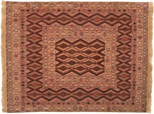 Afghan Mushwani Kelim 176x135 Handgewebt Teppich 140x180 Mehrfarbig Geometrisch Muster