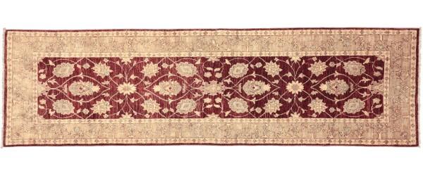 Afghan Chobi Ziegler 278x85 Handgeknüpft Teppich 90x280 Läufer Rot Orientalisch