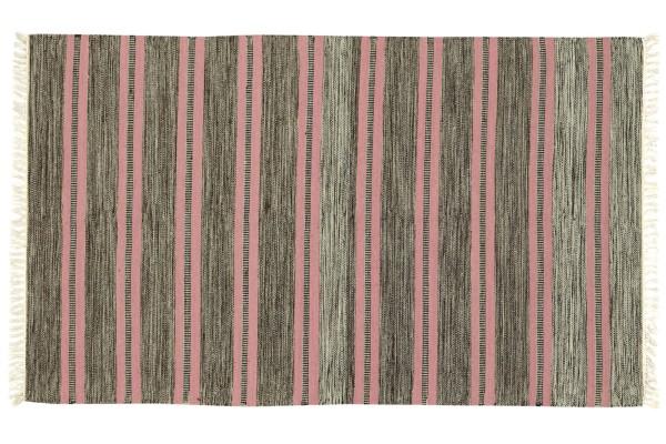 Kelim 180x120 Handgewebt Teppich 120x180 Rosa Gestreift Handarbeit Orient Zimmer