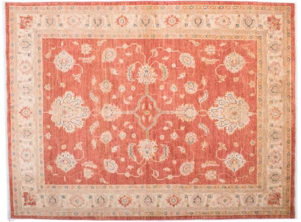 Afghan Chobi Ziegler Fein 194x148 Handgeknüpft Teppich 150x190 Rot Blumenmuster