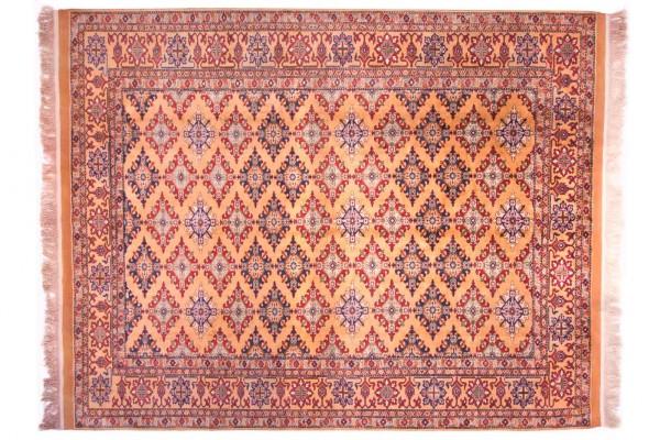 Afghan Mauri Kabul 267x218 Handgeknüpft Teppich 220x270 Rot Geometrisch Muster Kurzflor