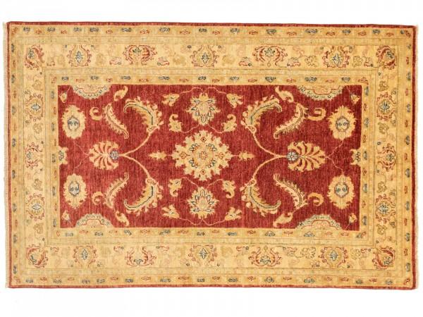 Afghan Chobi Ziegler 185x121 Handgeknüpft Teppich 120x190 Rot Geometrisch Muster