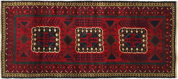 Afghan Belutsch Baluch 202x113 Handgeknüpft Orientteppich 110x200 Rot Geometrisch Wolle