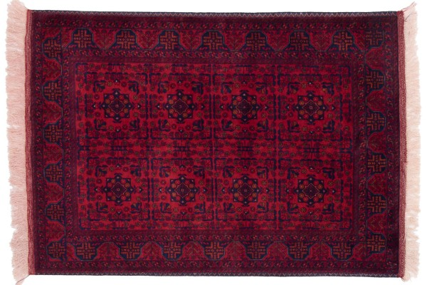 Afghan Belgique Khal Mohammadi 144x101 Handgeknüpft Teppich 100x140 Braun Geometrisch