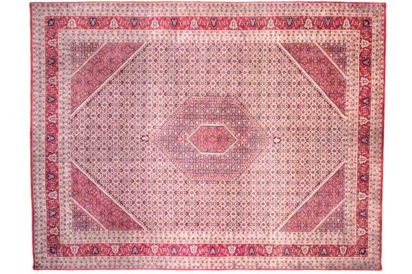 Bidjar 14/70 402x309 Handgeknüpft Teppich 310x400 Mehrfarbig Geometrisch Muster